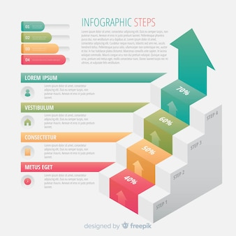 Colorful infographic steps concept