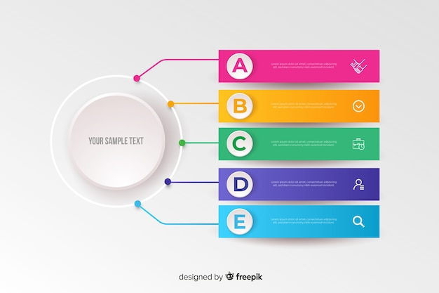 Colorful infographic template flat design
