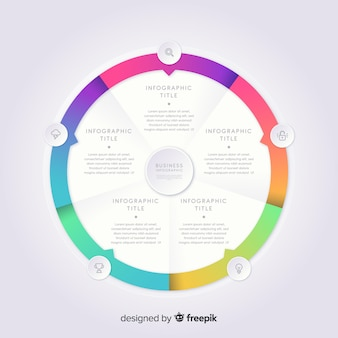 Colorful infographic template in gradient