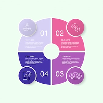 Colorful infographic template with icons and 10 options or steps.