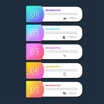 Красочный инфографики шаблон