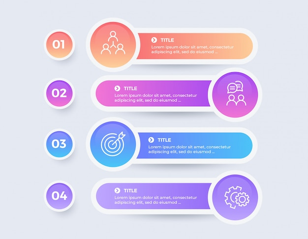 Colorful infographic with 4 options