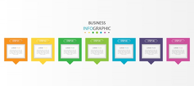 Colorful infographic with 7 steps or options