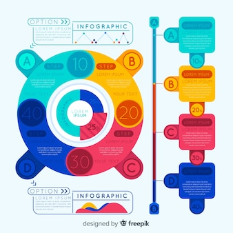 Colorful infographic with options