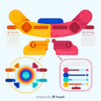 Colorful infographic with steps