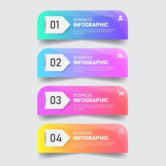Colorful infographics design template