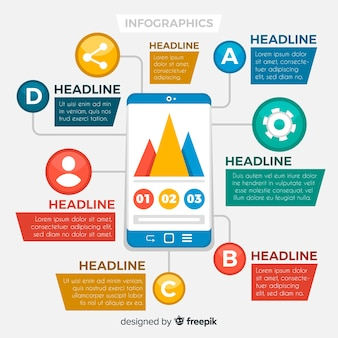 Colorful infographics template