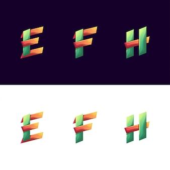 Colorful initial set