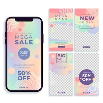 Colorful instagram sale stories