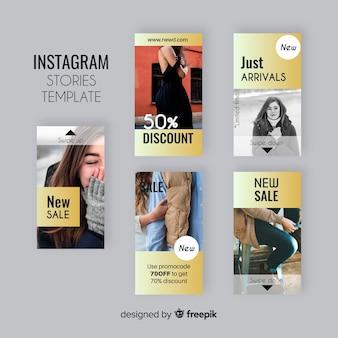 カラフルなinstagramの物語のテンプレート