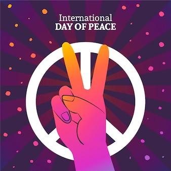 Красочный международный день мира