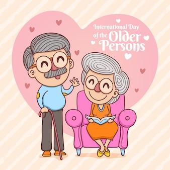 Красочный международный день пожилых людей