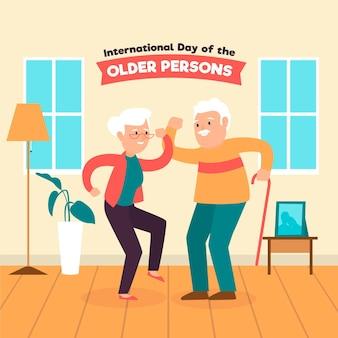 高齢者のカラフルな国際デー