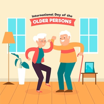 Colorful international day of the older persons