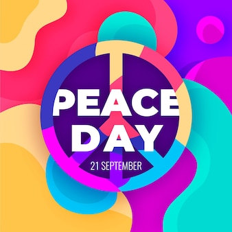 Colorful international day of peace