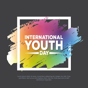 Colorful international youth day banner