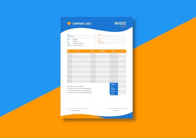 Colorful  invoice template