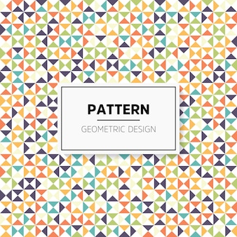 Colorful irregular abstract geometric seamless pattern