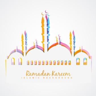 Colorful islamic festival background