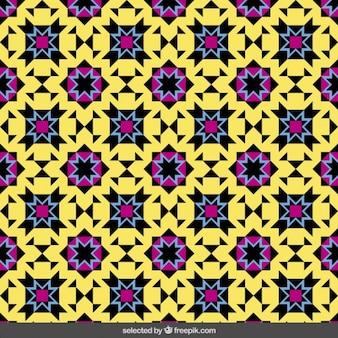 Красочные исламский мозаика