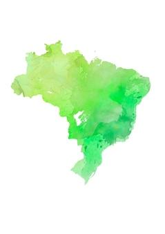 水彩でカラフルな孤立したブラジル