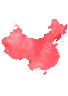 水彩でカラフルな孤立した中国