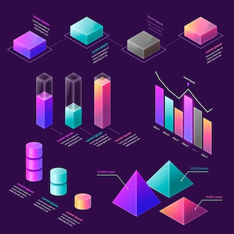 Colorful isometric infographic concept