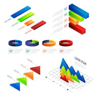 Infografica isometrica colorata