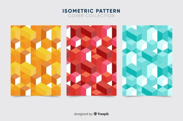 다채로운 아이소 메트릭 패턴 브로셔 팩