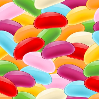 Colorful jelly beans seamless pattern.