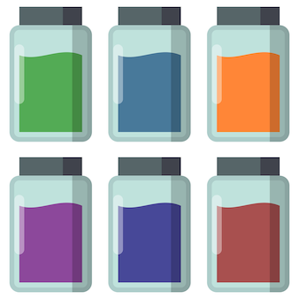 Colorful kitchen spice container spice container element icon game asset flat illustration