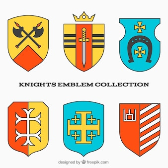 Colorful knight emblem design
