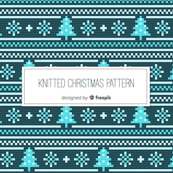 Colorful knitted christmas pattern collection