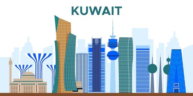 Colorful kuawit skyline