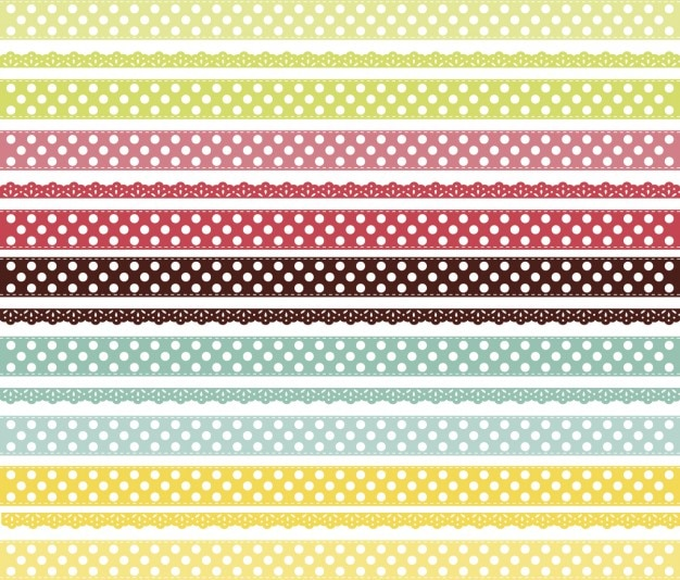 Colorful laces background