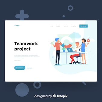 Colorful landing page template