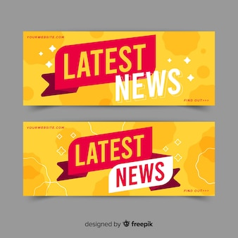 Colorful latest news banners
