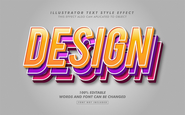Colorful layered text style effect mockup