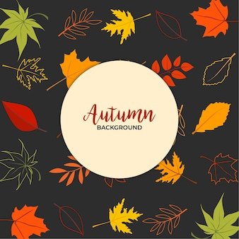 Colorful leaf autumn background