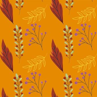 화려한 나뭇잎 패턴