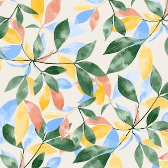 カラフルな葉のパターン