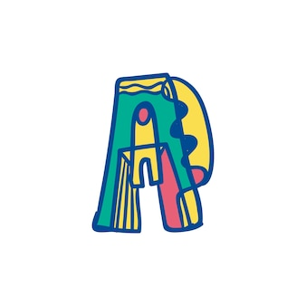 Colorful letter a abstract logo
