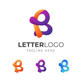 다채로운 편지 b 로고 디자인