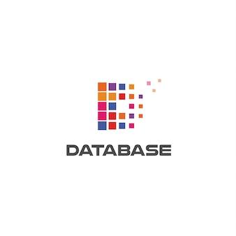다채로운 편지 d 추상적인 스타일 벡터 로고 개념 디지털 혁신 기술에 고립 된 아이콘