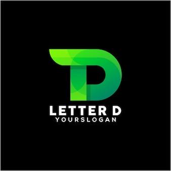 다채로운 편지 d 로고 디자인 서식 파일