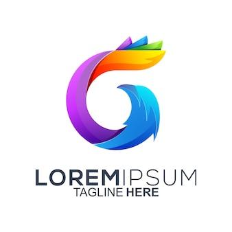 Colorful letter g logo design