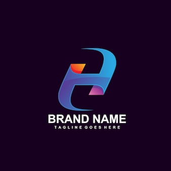 Colorful letter h logo design