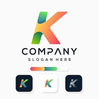 カラフルな文字kのロゴデザイン