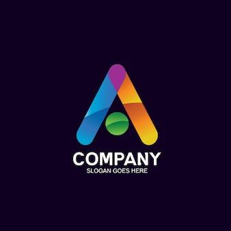 Colorful letter a logo design