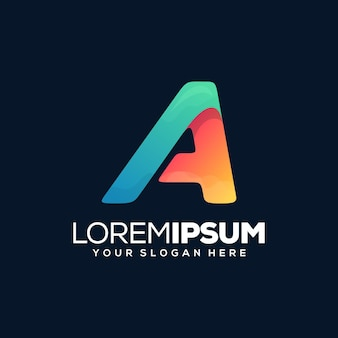 Colorful letter a logo template